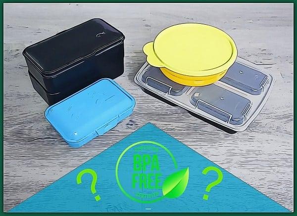 Verschiedene Brotdosen und BPA frei Logo
