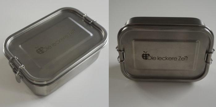 Zwei Ansichten der Leckere Zeit Lunchbox