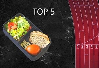 Gefüllte Lunchbox mit top3 Titel