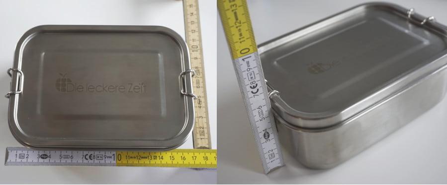 Edelstahl Lunchbox mit Meterstab