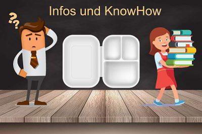 Fraglicher Mann und Frau mit Büchern zum Thema Lunchbox